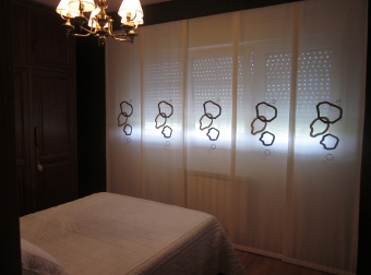 Estor japones en dormitorio